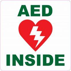 AED Inside Permanent Vinyl Sticker