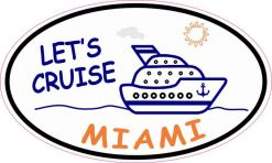 Cruise Ship Oval Miami Vinyl Sticker