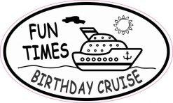 Oval Birthday Cruise Vinyl Sticker