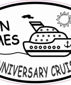 Oval Anniversary Cruise Vinyl Sticker