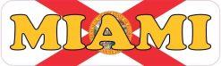 Florida Flag Miami Vinyl Sticker