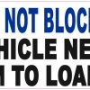 Handicap Do Not Block Door Magnet