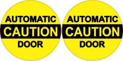 Caution Automatic Door Vinyl Stickers