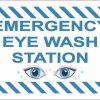 Picture Emergency Eye Wash Station Vinyl Sticker