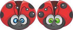 Ladybug Vinyl Stickers