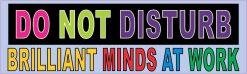 Brilliant Minds at Work Vinyl Sticker