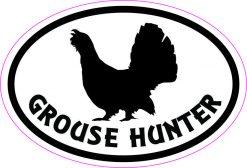 Oval Grouse Hunter Vinyl Sticker