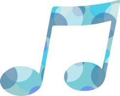 Bubbly Blue Double Eighth Note Vinyl Sticker