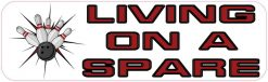 Living on a Spare Vinyl Bowling Sticker