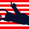 USA Flag Cowboy Magnet