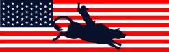 USA Flag Cowboy Vinyl Sticker