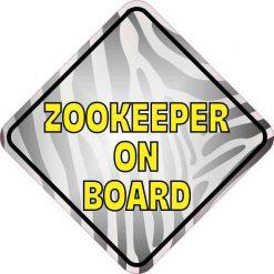 Zebra Print Zookeeper on Board Magnet