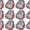 Bulldog Mascot Camera Dots®