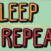 Eat Sleep Pool Repeat Vinyl Sticker