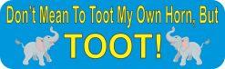 Elephant Toot My Own Horn Vinyl Sticker