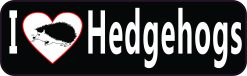 I Love Hedgehogs Vinyl Sticker