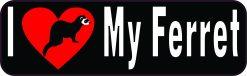 I Love My Ferret Vinyl Sticker