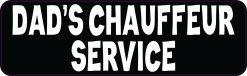 Dads Chauffeur Service Vinyl Sticker
