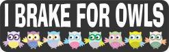 I Brake for Owls Magnet