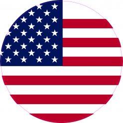 Circular US Flag Vinyl Sticker