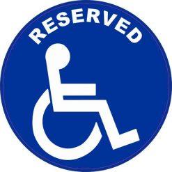 Handicap Reserved Vinyl Sticker