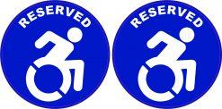 Handicap Reserved Vinyl Stickers
