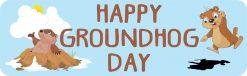 Happy Groundhog Day Vinyl Sticker