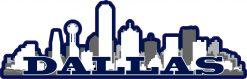 Navy Dallas Skyline Vinyl Sticker