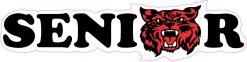 Red Wildcat Senior Vinyl Sticker