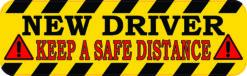 Keep a Safe Distance New Driver Vinyl Sticker
