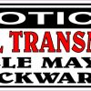 Notice Manual Transmission Vinyl Sticker