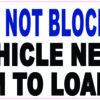 Dynamic Disability Do Not Block Door Vinyl Sticker