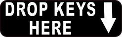 Drop Keys Here Vinyl Sticker