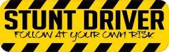 Stunt Driver Vinyl Sticker