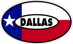 Flag Oval Dallas Vinyl Sticker