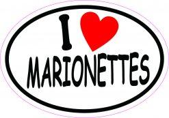Oval I Love Marionettes Vinyl Sticker