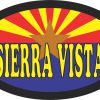 Arizona Flag Oval Sierra Vista Vinyl Sticker