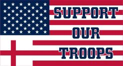 Cross US Flag Support Our Troops Vinyl Sticker