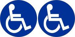 Wheelchair Symbol Vinyl Stickers