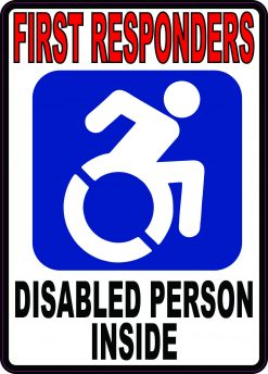 Dynamic Disabled Person Inside Vinyl Sticker