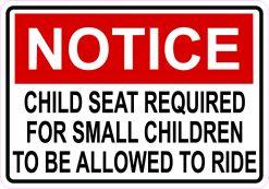 Notice Child Seat Required Magnet