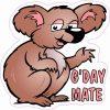 G'Day Mate Koala Vinyl Sticker