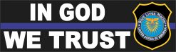 Thin Blue Line in God We Trust Vinyl Sticker