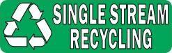 Single Stream Recycling Vinyl Sticker