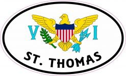 Flag Oval St Thomas Vinyl Sticker