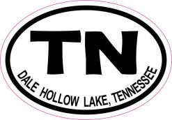 Oval Dale Hollow Lake Tennessee Vinyl Sticker