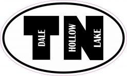 Oval TN Dale Hollow Lake Vinyl Sticker