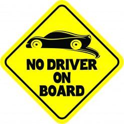 No Driver on Board Vinyl Sticker