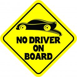 No Driver on Board Magnet