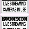 Live Streaming Cameras in Use Vinyl Stickers
